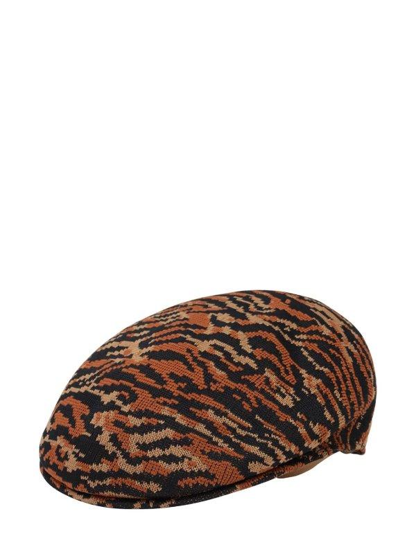 豹纹贝雷帽