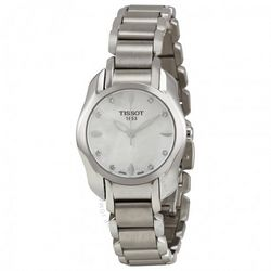 Dealmoon Exclusive: Extra $10 Off TISSOT Trend T-Wave Mother of Pearl Dial Ladies Watch