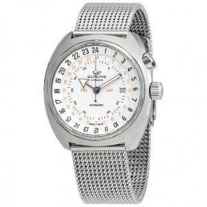 $629GLYCINE Airman SST 12 Automatic White Dial Men's Watch GL0145