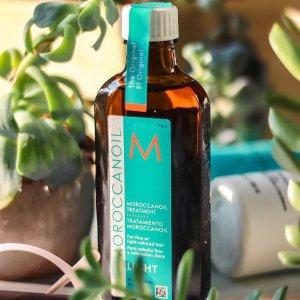 Moroccanoil Treatment Light, 3.4 oz @ Amazon