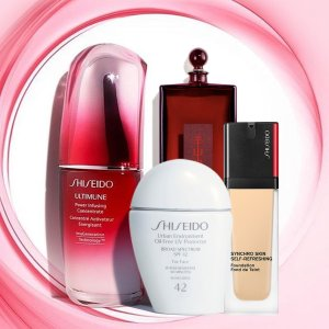 20% Off Sitewide or 30% Off Best SellersLast Day: Shiseido Top 10 Products on Sale