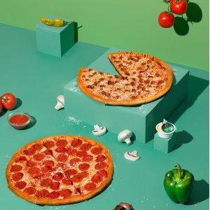 正价大号/中号买一送一Papa John's 披萨独立日限时优惠