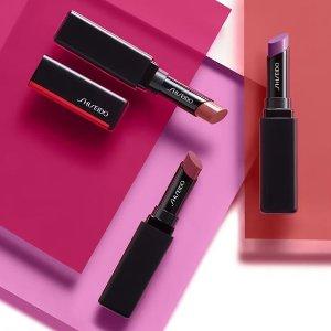 全场8折+满额送正装防晒(价值$49)Shiseido 资生堂彩妆产品独家早鸟特卖 收大热细管口红