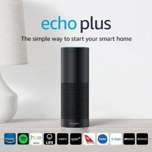 $99(原价$229)黑五价:Echo Plus 智能家居中枢 从此很多事只需动动嘴