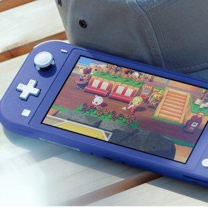 """低至$295 收新款""""少女蓝""""Nintendo Switch Lite 掌上游戏机"""