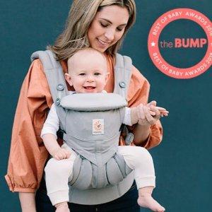$89 设计合理,不伤腰Ergobaby 360 四式婴儿背带 灰色款 附赠新生儿垫