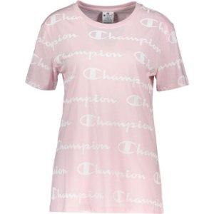 Champion粉色Logo短袖