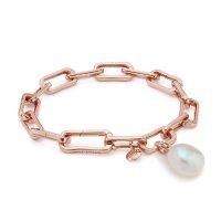 Monica Vinader Alta玫瑰金珍珠手链