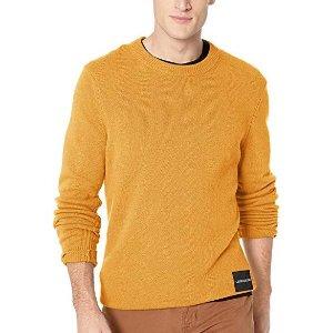 $33.56 姜黄色Calvin Klein 男士羊毛混纺毛衣