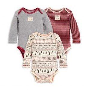 Burt's Bees Baby婴童有机棉包臀衫3件套