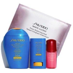 $68(原价$103) 相当于6.6折Shiseido 小蓝瓶防晒超值套装上新