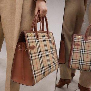 低至3.5折 $35.99收女淡香Burberry 复古质感经典格系列热促 包袋、配饰都有
