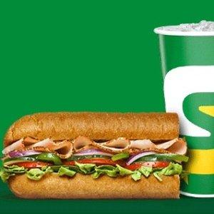 仅$2.99 实惠又健康SUBWAY 6寸三明治限时优惠