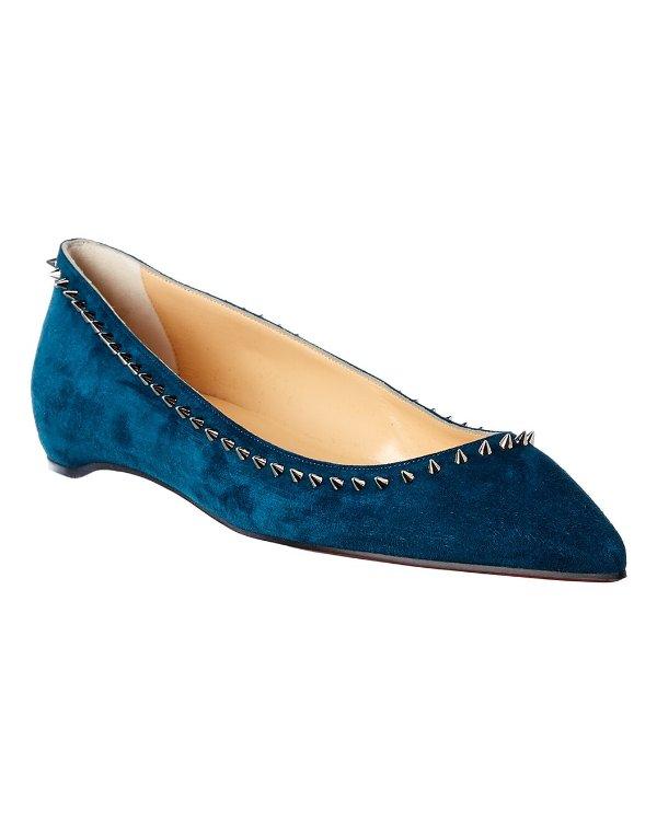 Anjalina 麂皮平底鞋
