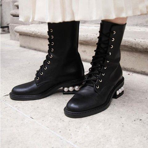 Nicholas Kirkwood 经典珍珠跟美鞋热卖 短靴$500+