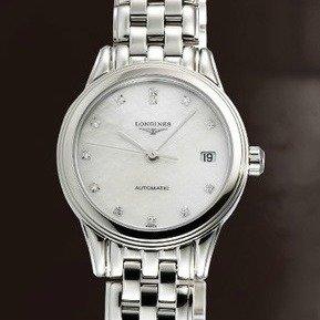 $1249 (原价$1875) 国内公价¥14000LONGINES 珍珠母贝镶钻机械时装奢华女表