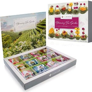 Flowering Tea Chest - Finest Quality Blooming Tea Collection From The World's Most Beautiful Gardens - 12 Best-Selling Varieties of Flowering Teas Packaged in Beautiful Gift-Ready Tea Box