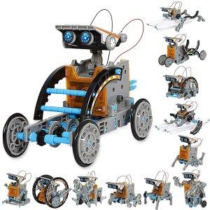 $31.44(原价$39.99)Sillbird STEM 十二合一太阳能益智机器人玩具 乐趣翻倍