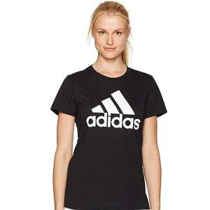 $12.81起adidas 经典Logo款女子纯色运动T恤 多色可选