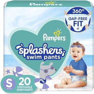 $10.97(原价$12.97)Pampers 帮宝适 一次性游泳尿布20片 专为宝宝游泳设计
