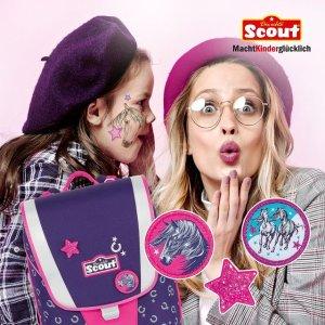 5.5折+额外8折 经典4件套仅€144 原价€263Scout 儿童背包、笔袋热卖 防水耐用 小朋友都爱的童趣设计