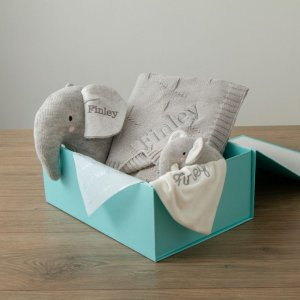 My 1st YearsPersonalized Gray Elephant Baby Gift Set
