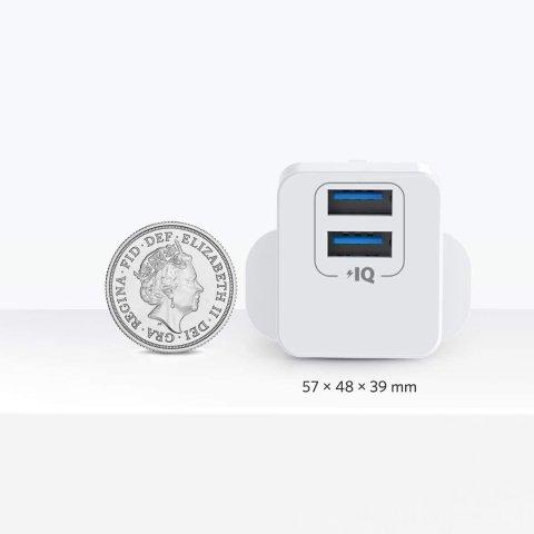 现价6.99(原价£10.99)Anker USB 英标迷你快充头 超小体积 苹果安卓一头全搞定
