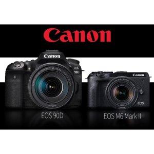 全新32.5MP APS-C CMOS佳能发布 EOS 90D 和 M6 Mark II 两款 APS-C 相机