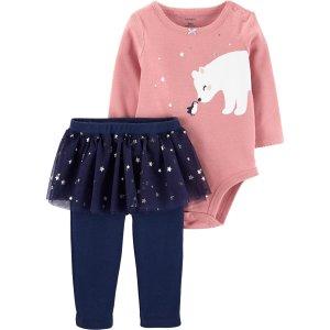 Carter's2-Piece Polar Bear Bodysuit & Tutu Pant Set