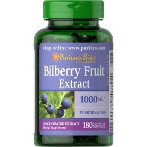 Puritans Pride Bilberry 1000 mg180 Softgels - Walmart.com