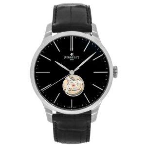 Perreletvia code DMPT895  First Class Open Heart Stainless Steel Automatic Men's Watch A1087/5