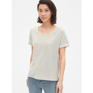 GapSoft Slub Relaxed Crewneck T-Shirt