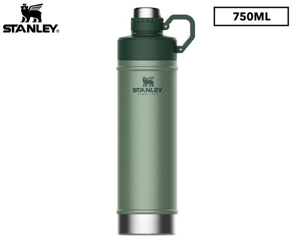 750mL Vacuum Water Bottle - Hammertone Green