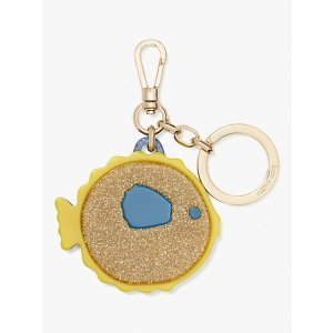 Kate Spadepuffy fish key fob