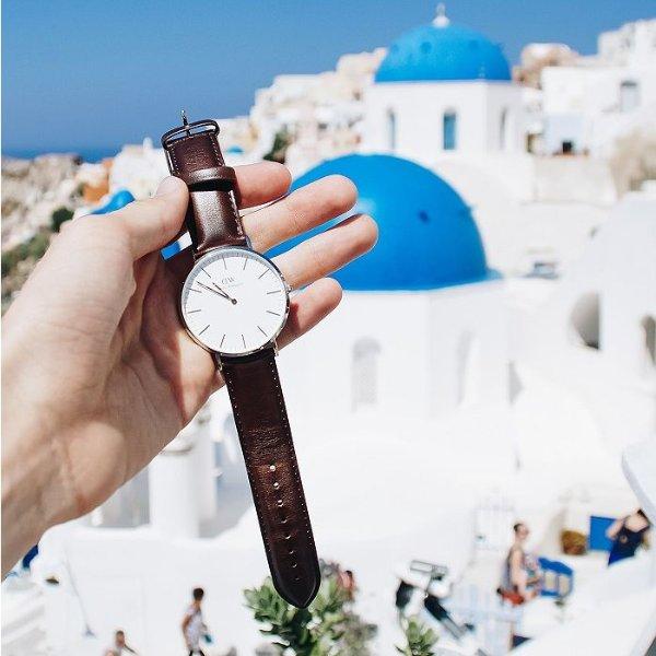 40mm 棕带腕表