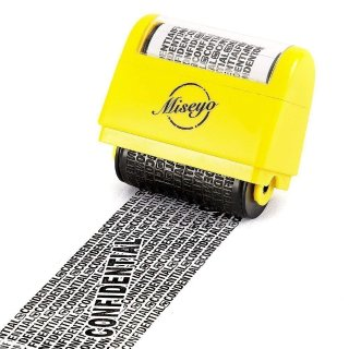 $7.99Miseyo Wide Roller Stamp Identity Theft Stamp 1.5 Inch Perfect for Privacy Protection - Yellow