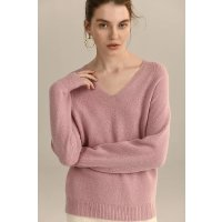 Ecru Emissary Pink Leila Seamless 羊毛毛衣