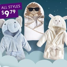 Last Day: All Styles $9.79Kids Hooded Towels & Robes Sale @ Zulily
