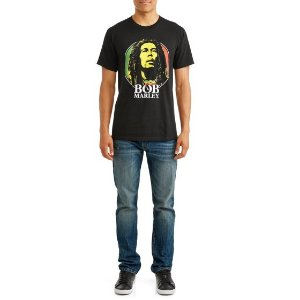 只要$3白菜价:Walmart 男士Bob Marley印花T恤热卖