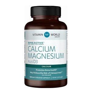 $20 off $80Calcium Magnesium Plus Vitamin D3 at Vitamin World