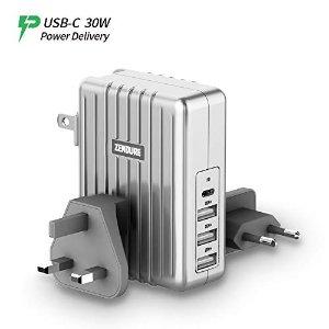 USB-C 全球旅行充电适配器