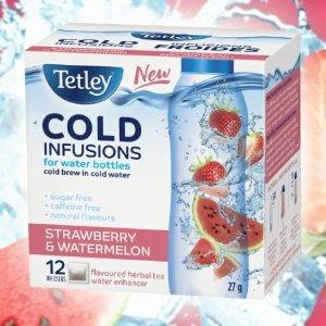 $3.47收12包Tetley 水果味冷泡茶27g  喝水变得有滋有味