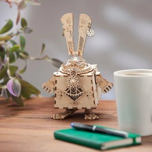 As low as $18.19ROBOTIME 3D Puzzle Music Box Wooden Craft Kit Robot Machinarium Toy with Light