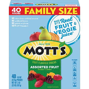 $4.99Mott's Medleys Fruit Snacks Family Size,0.8oz 40 Pouches
