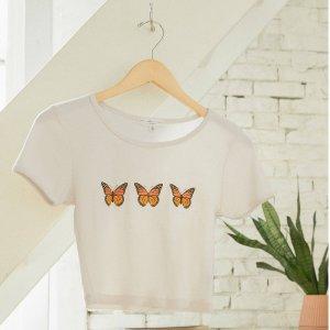 7.5折 $11收Jennie同款Urban Outfitters 可爱图案T恤大促