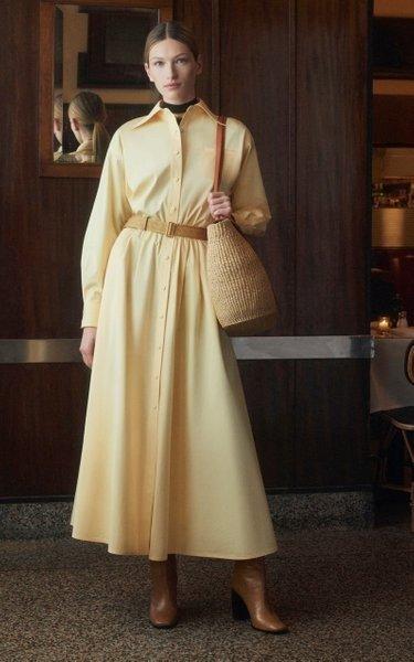 Eleanor 米黄色连衣裙