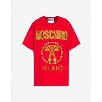 Moschino logo红色短袖