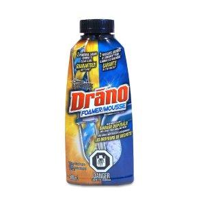 $4.74(原价$5.87) 通下水道专业户Drano 泡沫下水道强力疏通剂 500ml 从此一路畅通无阻