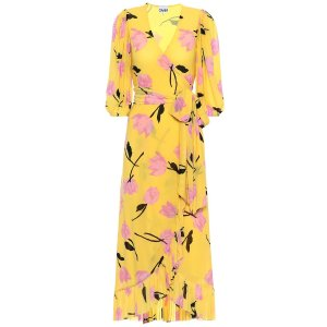 GanniExclusive to Mytheresa – floral wrap dress