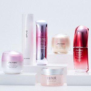 6折起,£17起收套装Shiseido 日系彩妆护肤热卖,红腰子 红色蜜露都有!
